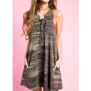 NWOT. Z Supply Camo Dress.